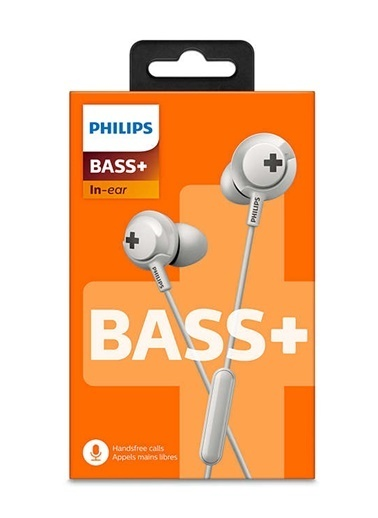 Philips SHE4305WT/00 Bass+ Mikrofonlu Kulakiçi Kulaklık Beyaz